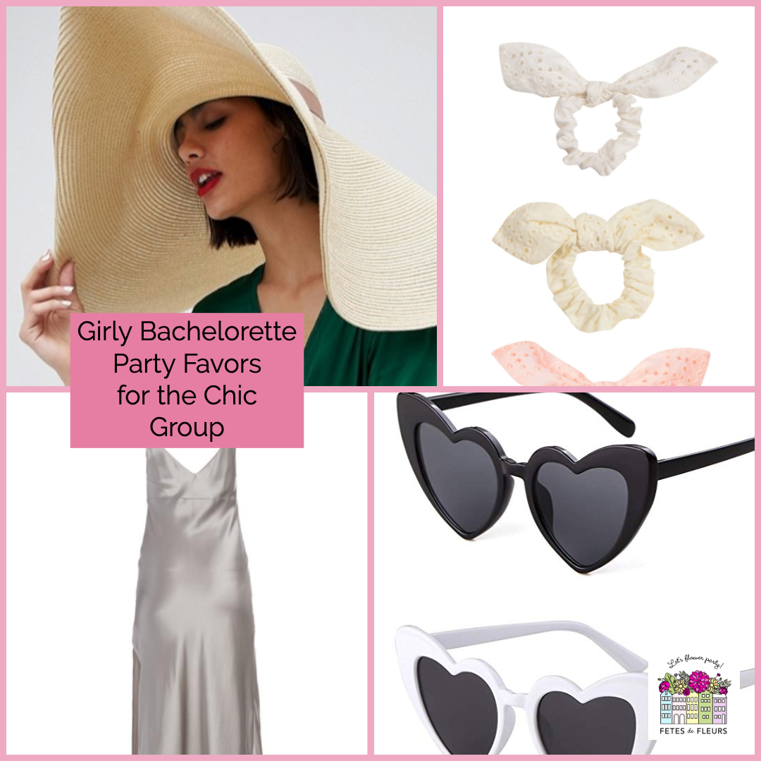girly bachelorette party favors for the chic group