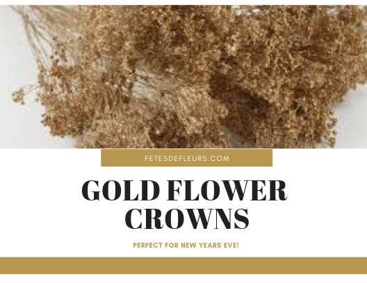 gold flower crowns