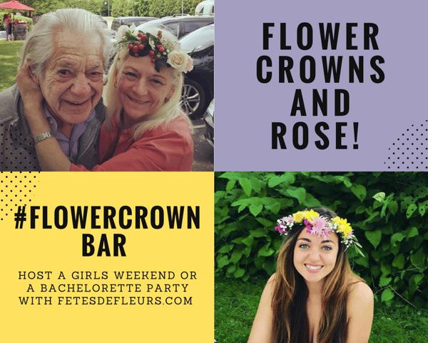 hamptons flower crown bar