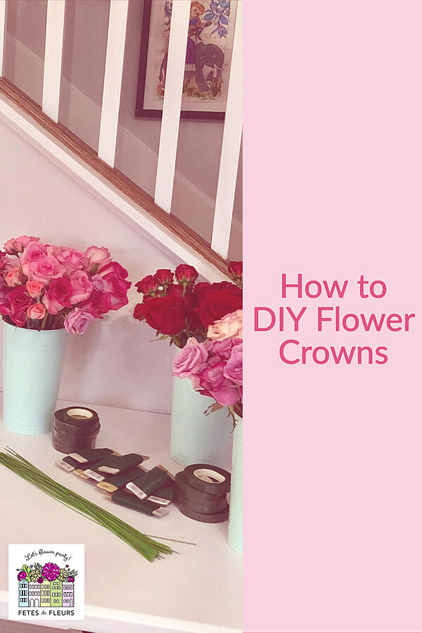 how to DIY flower crowns