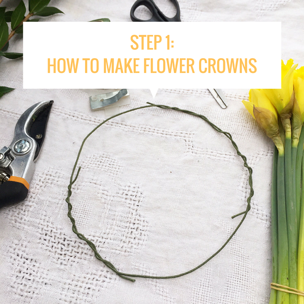 how to make flower crowns step by step
