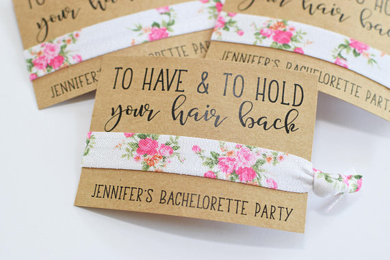 bachelorette party hair elastics