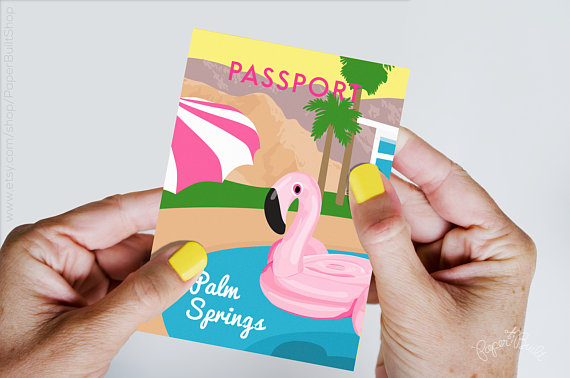 palm springs bachelorette invitations