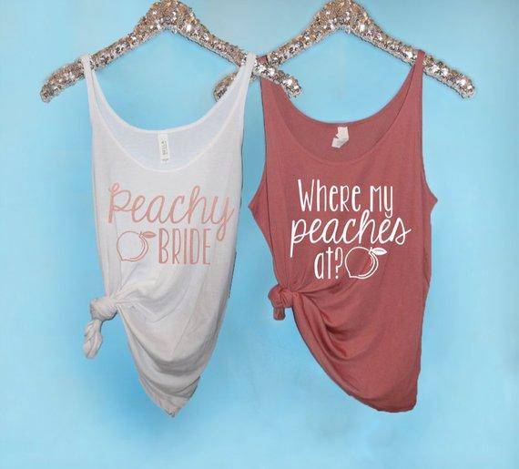 peachy bride bachelorette party theme
