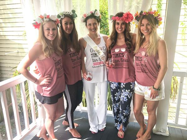 charleston bachelorette party - flower crowns