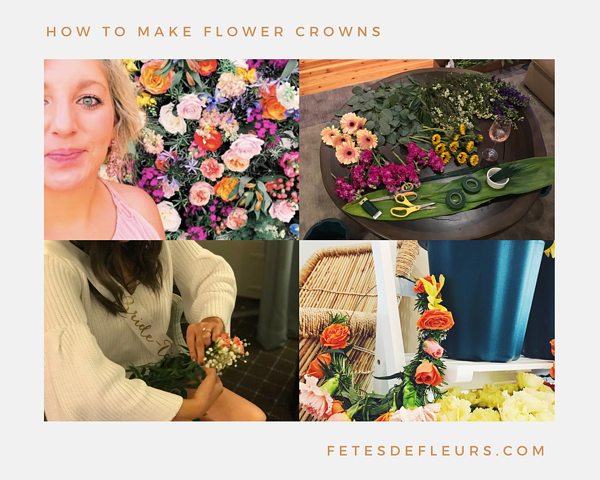 learn How to make flower crowns