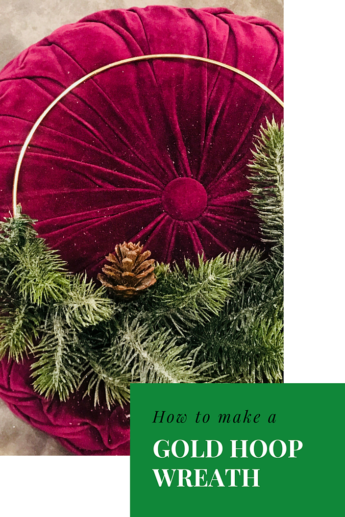 how to make a gold hoop wreath