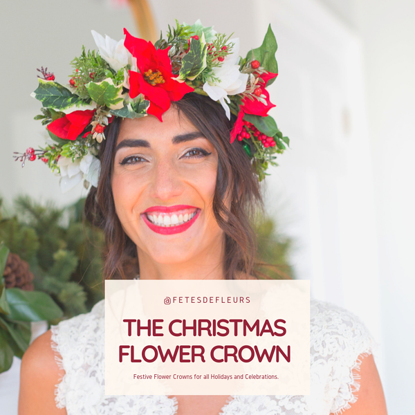 the christmas flower crown