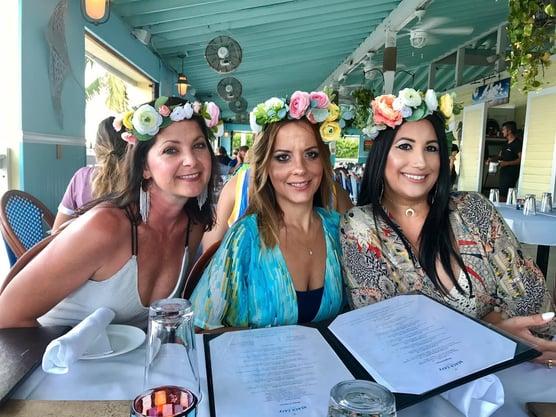 Flower crown bachelorette parties