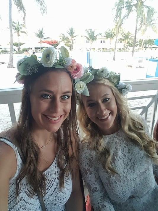 Wedding flower crowns