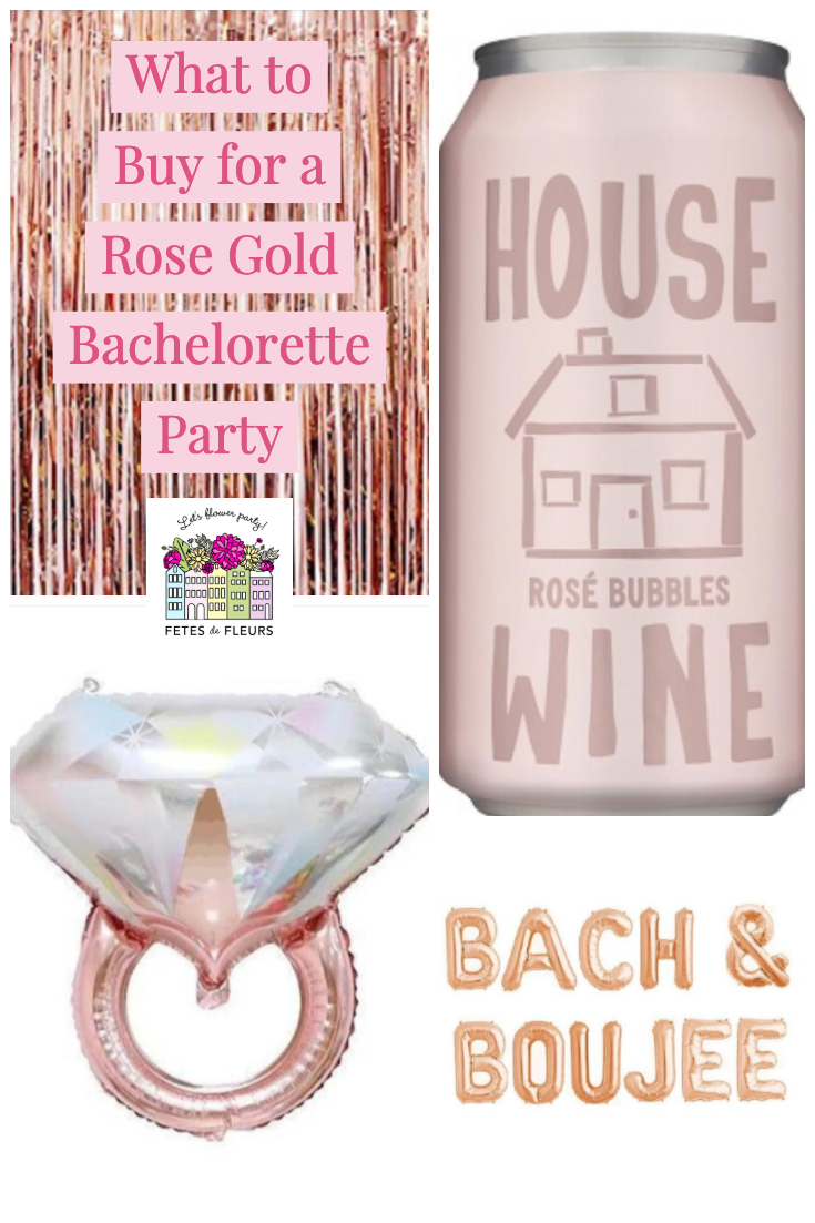 what to buy for a rose gold bachelorette party