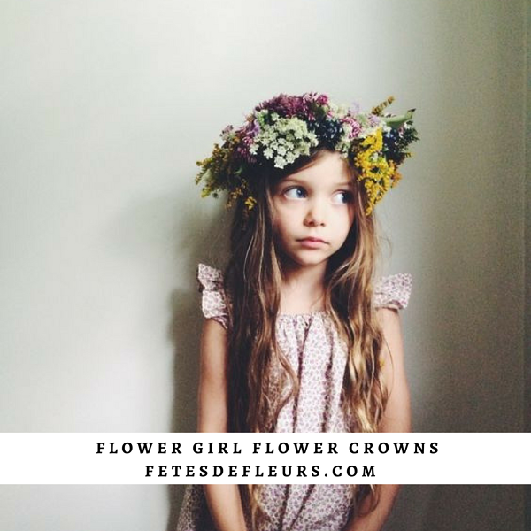 wild flower flower girl flower crown