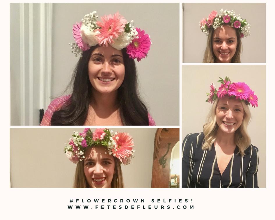 #flowercrown selfies! www.fetesdefleurs.com