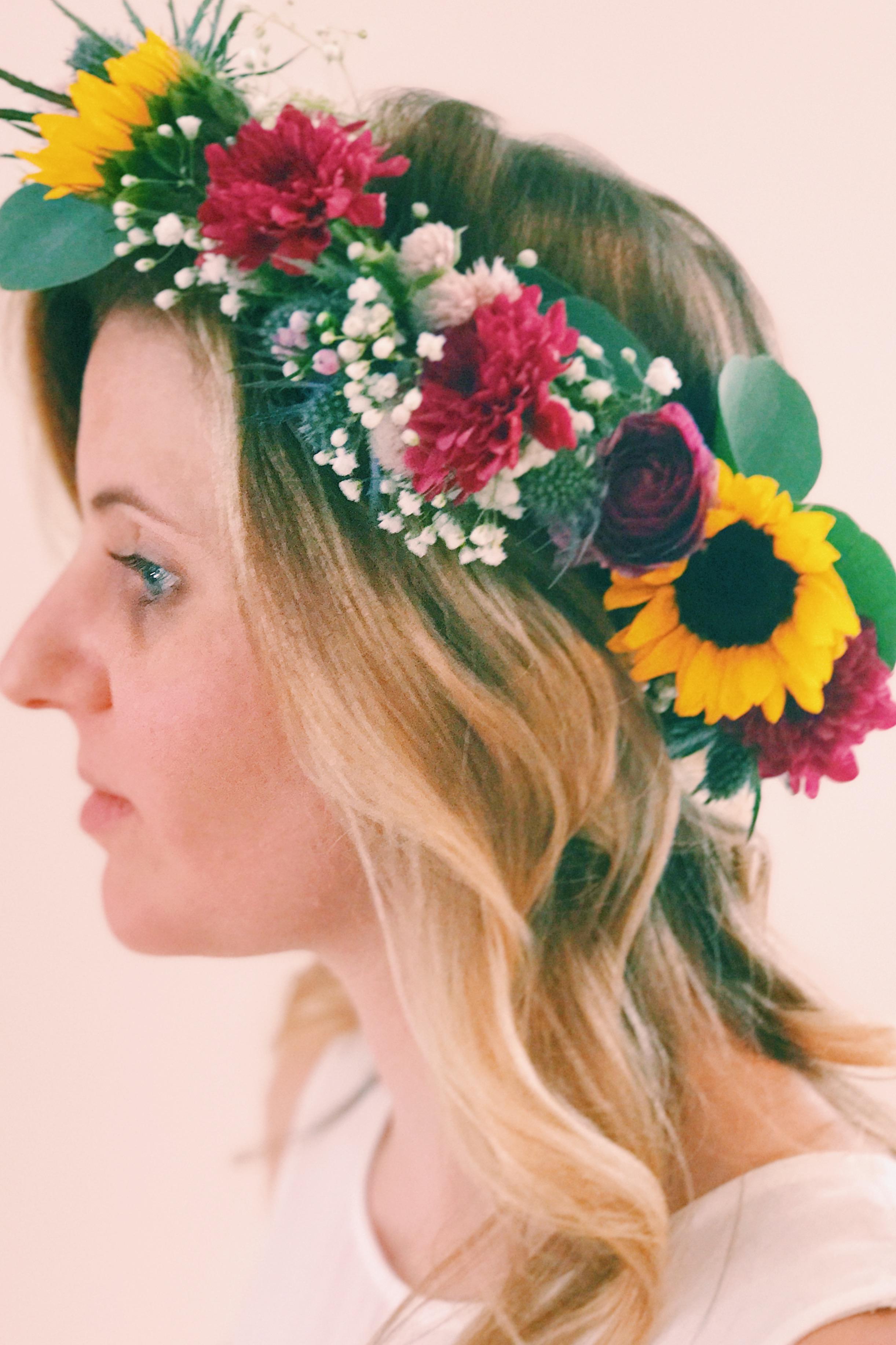 bachelorete party flower crown