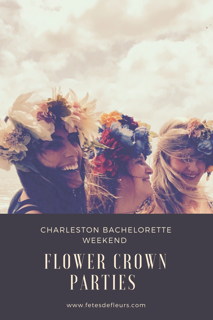 Charleston bachelorette party flower party