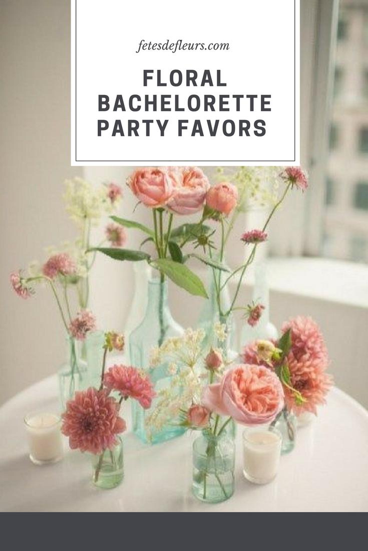 Floral bachelorette party favors
