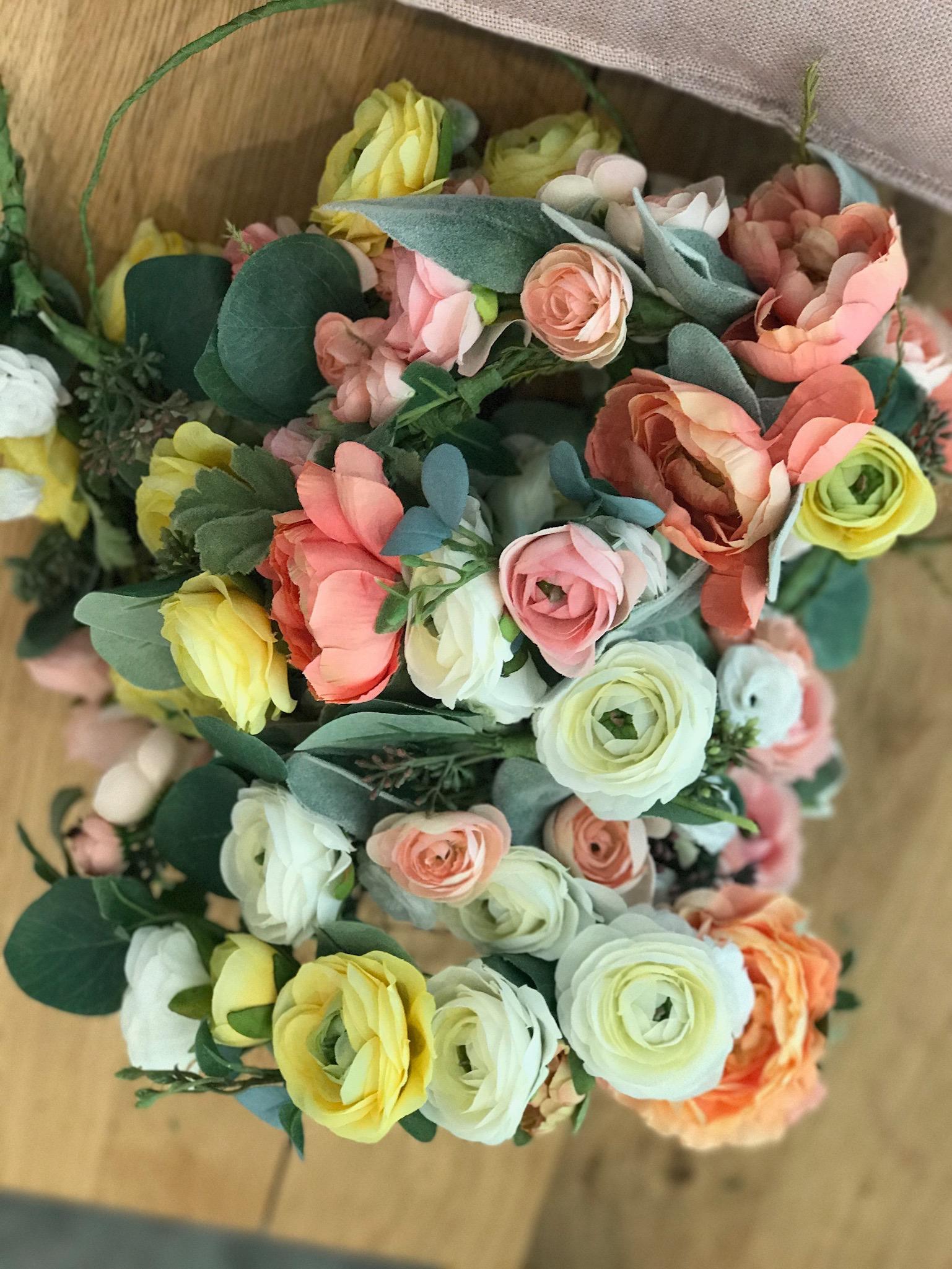 Fake flower crowns