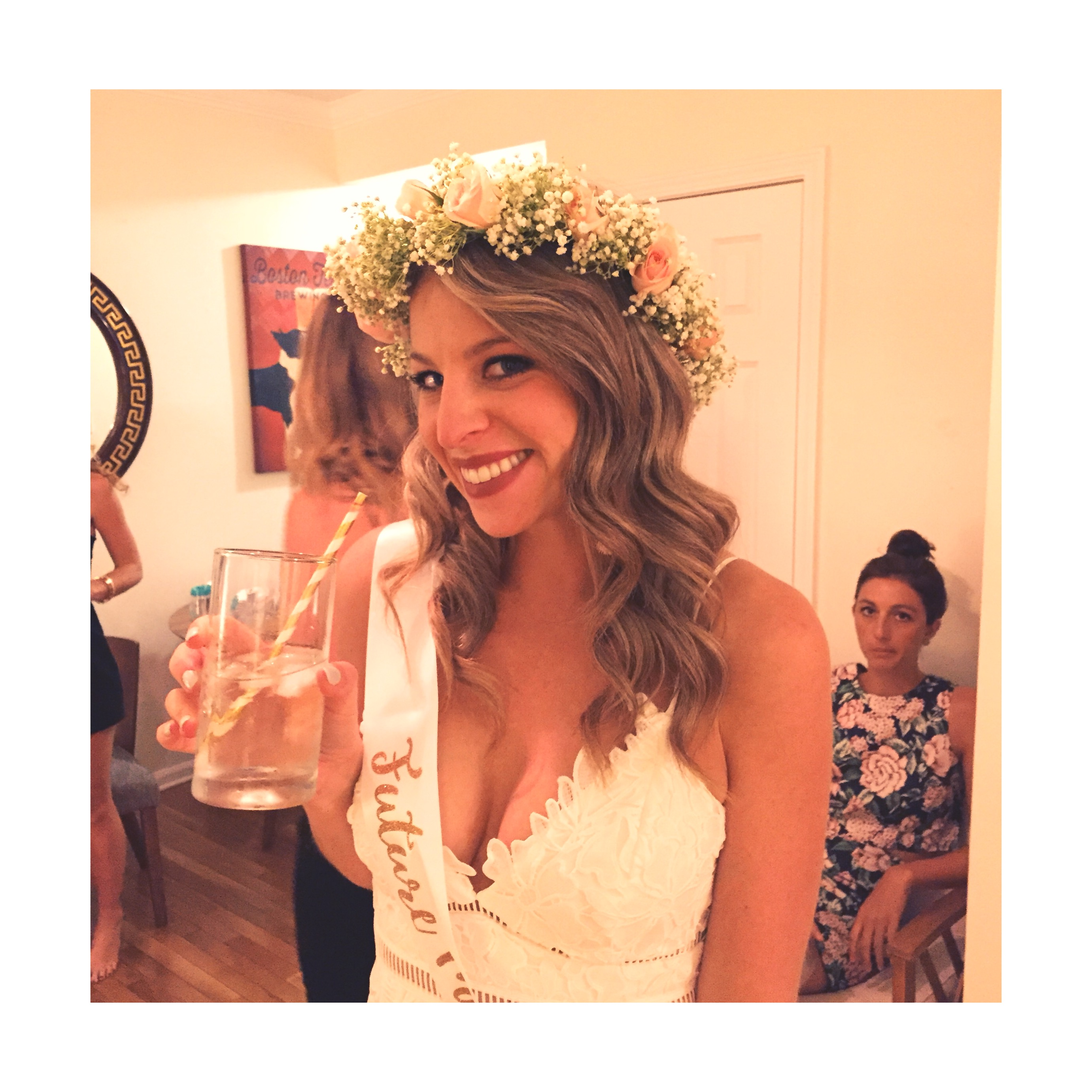 The White Flower Crown: Perfect for a Bridal Shower Flower ...