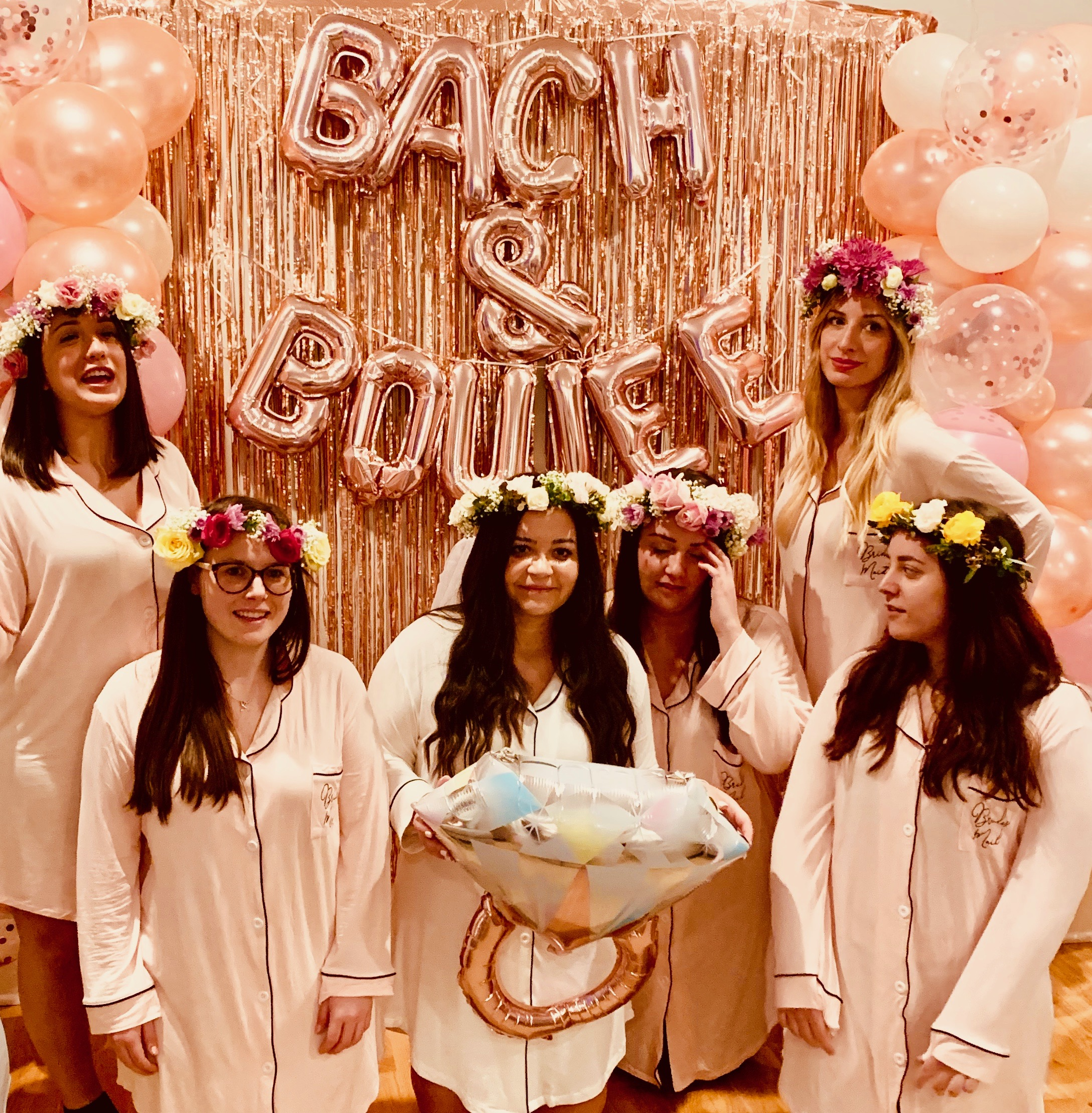 rose gold bachelorette party