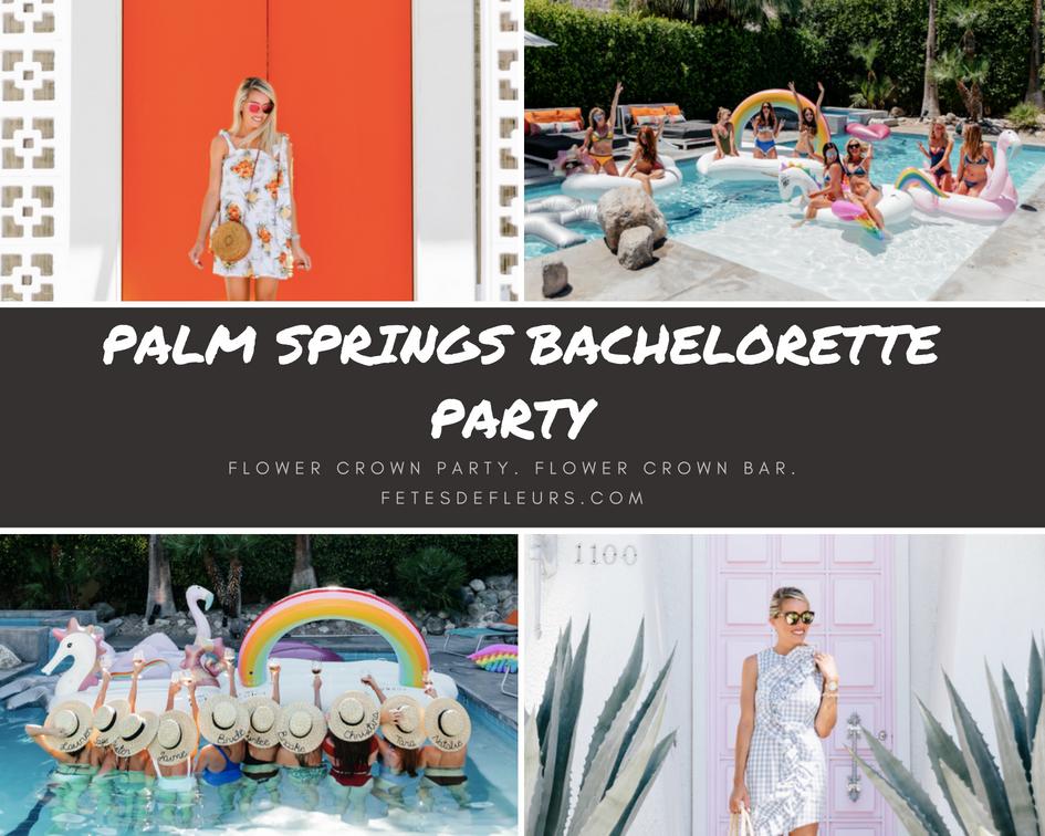 Palm Springs bachelorette party ideas