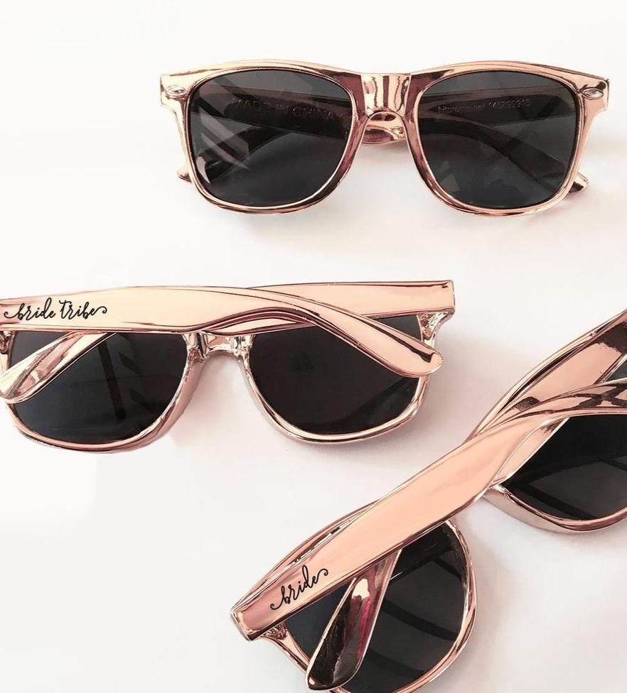 rose bachelorette party sunglasses