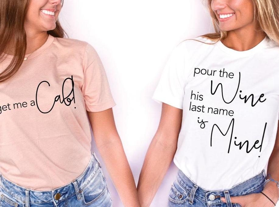 wine bachelorette party sweatshirts