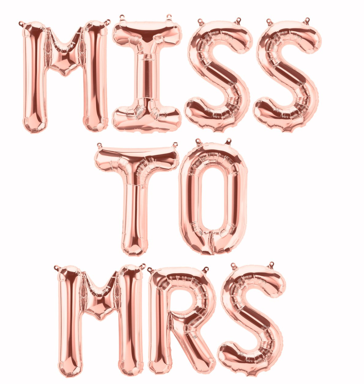 miss to mrs bachelorette party balloon banner