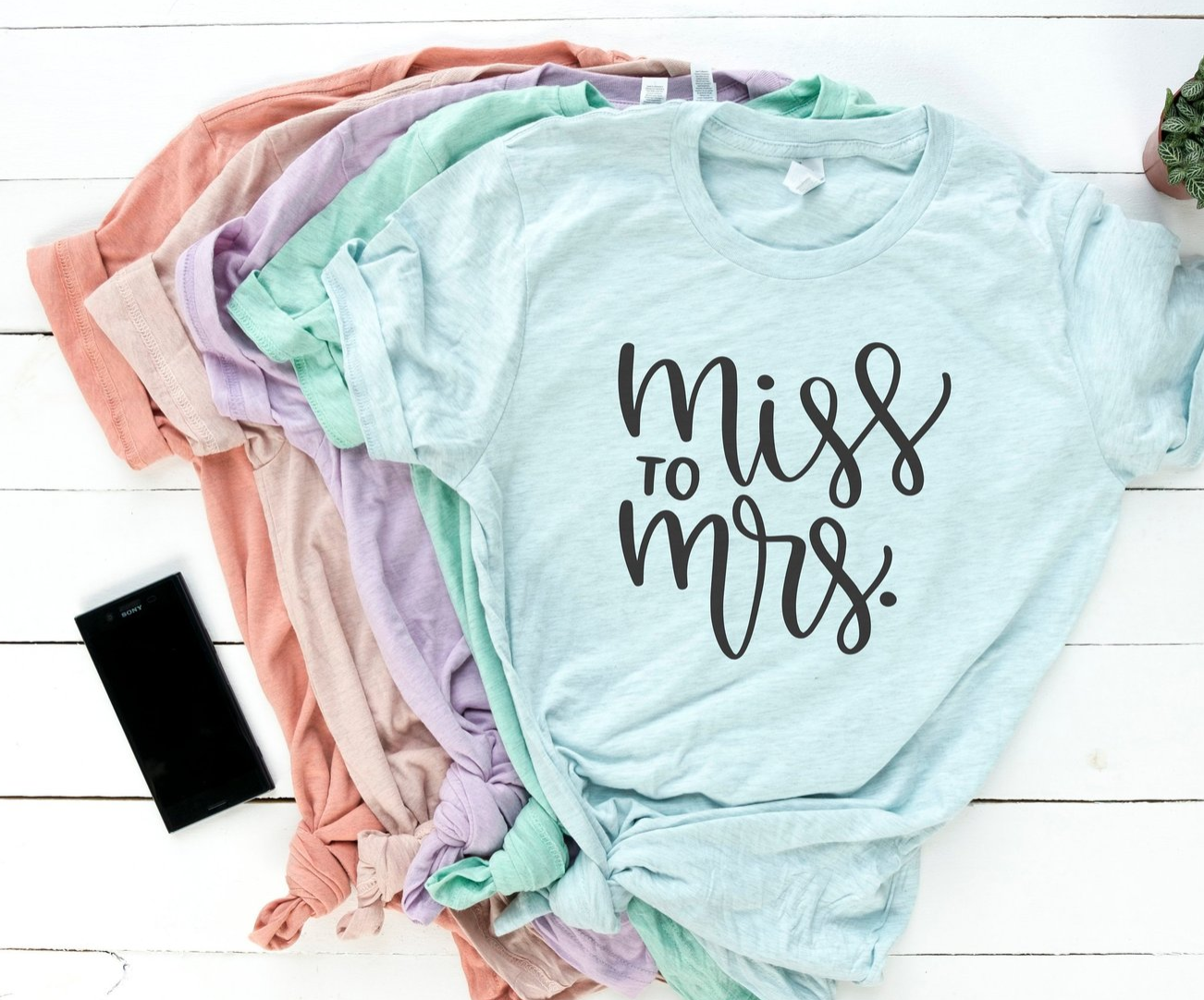 miss to mrs t-shirts