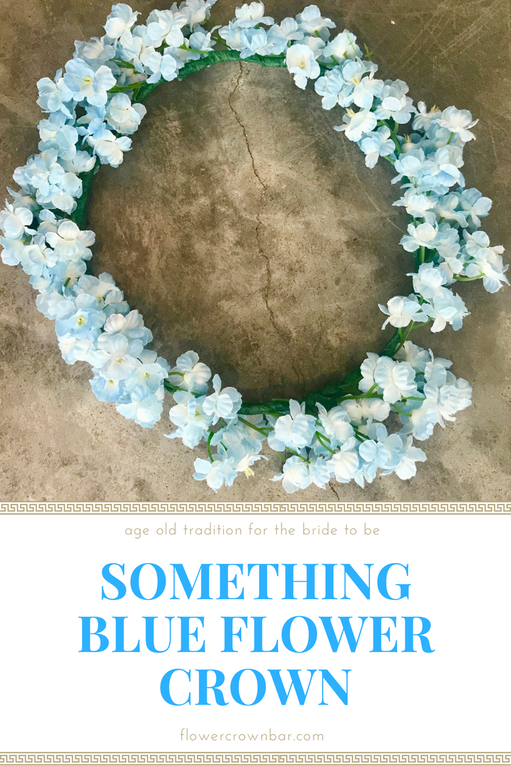 Something blue flower crown for the traditional bride to be izmirmasajfo