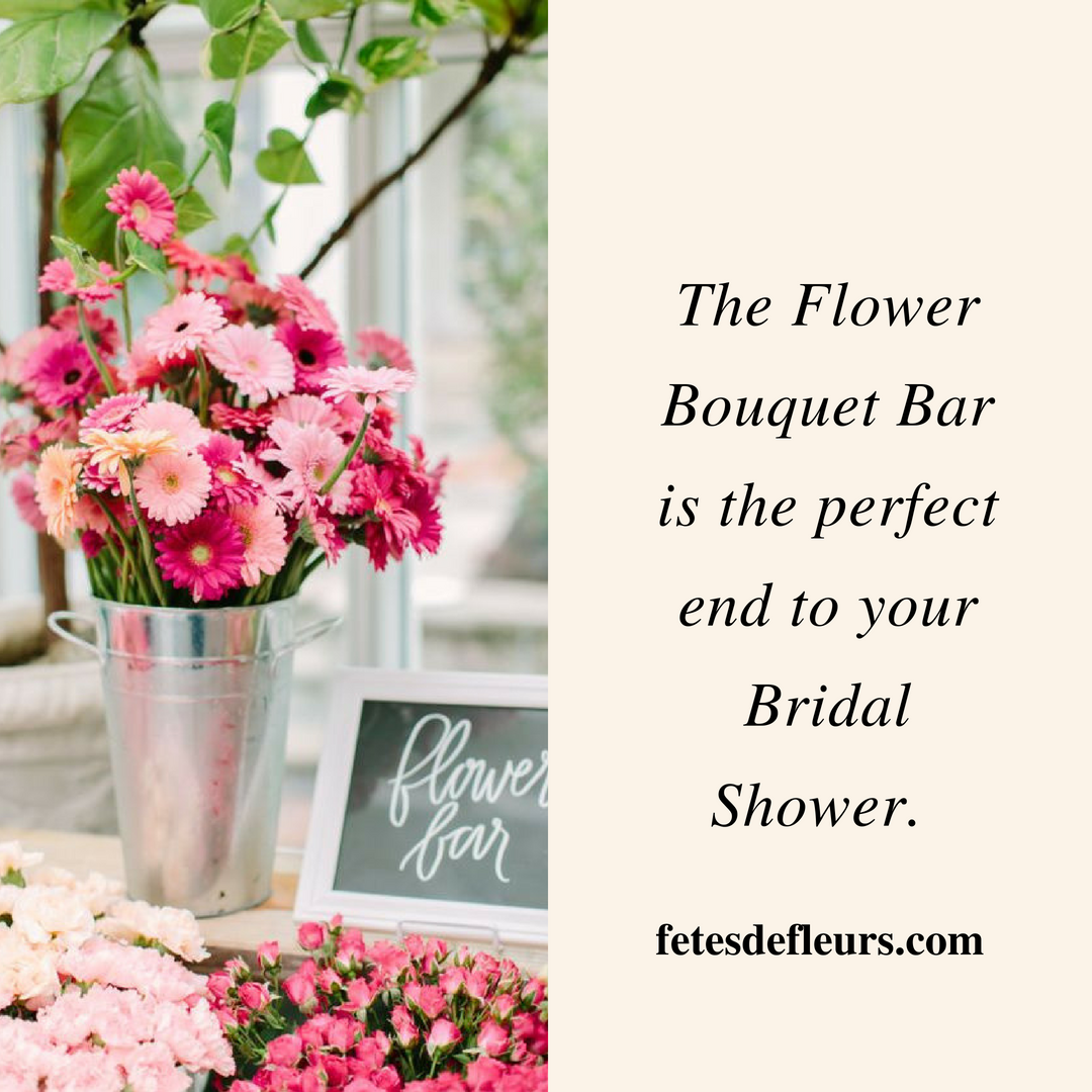 flower bouquet bar