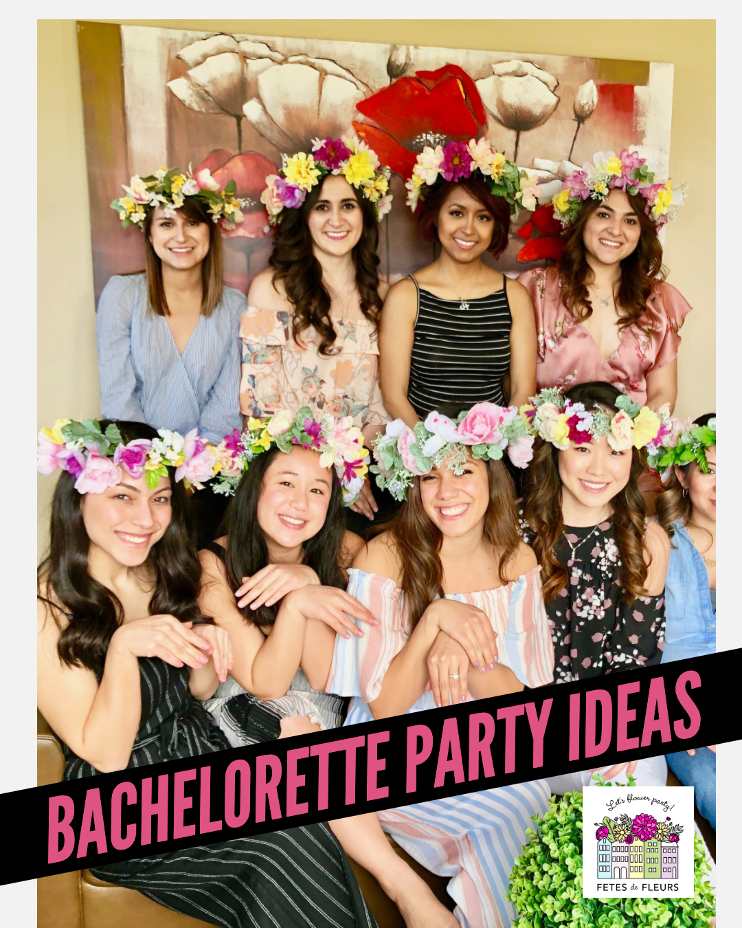 bachelorette party ideas - flower crown making workshop