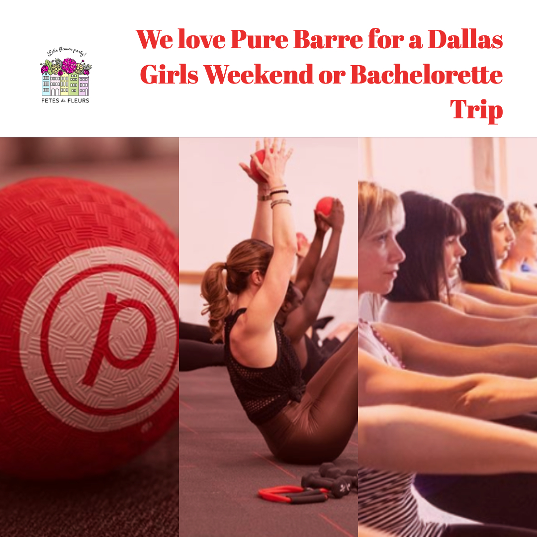bachelorette workout classes for a dallas girls weekend or bachelorette party