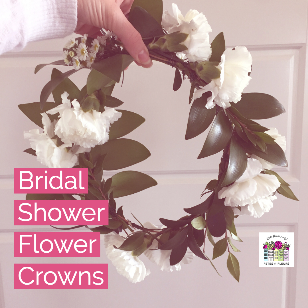 bridal shower flower crown