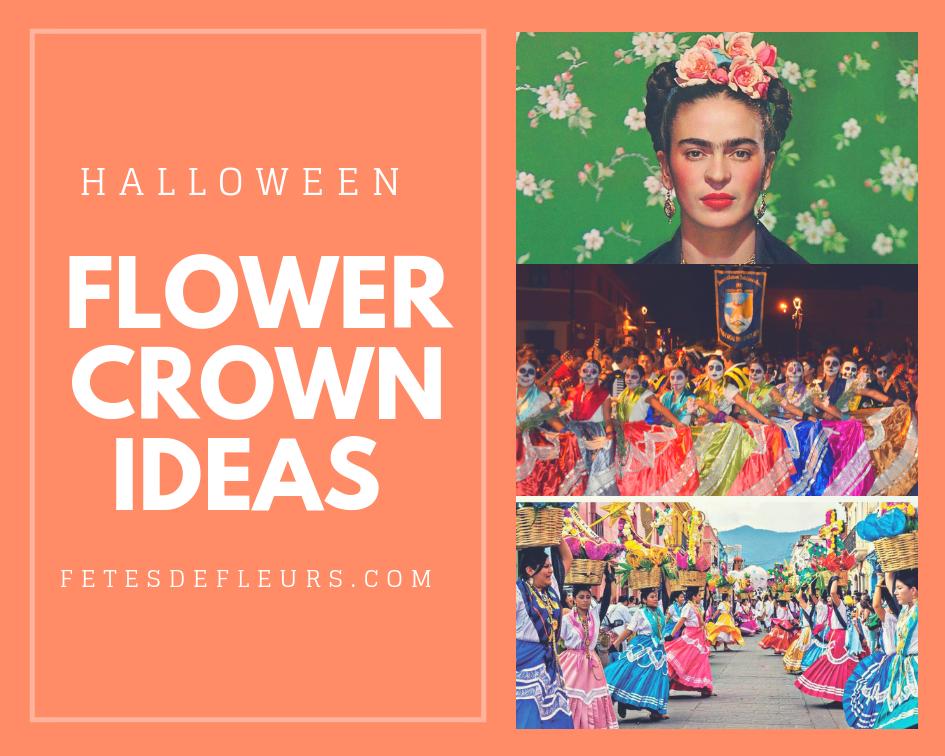 day of the dead flower crown costumes