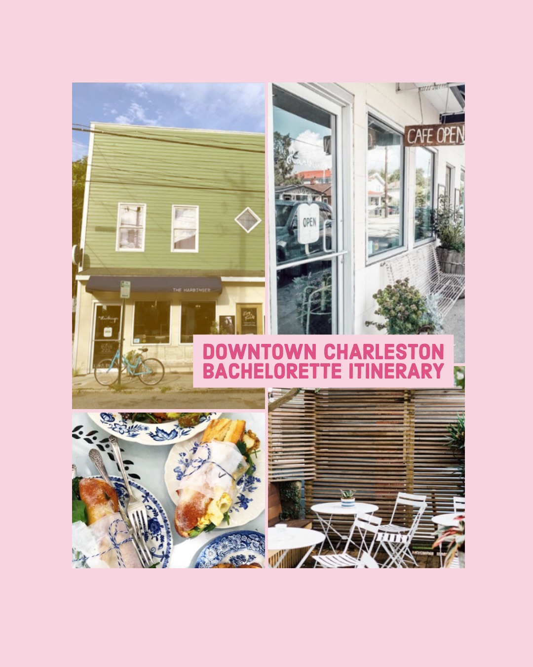 downtown charleston bachelorette party itinerary