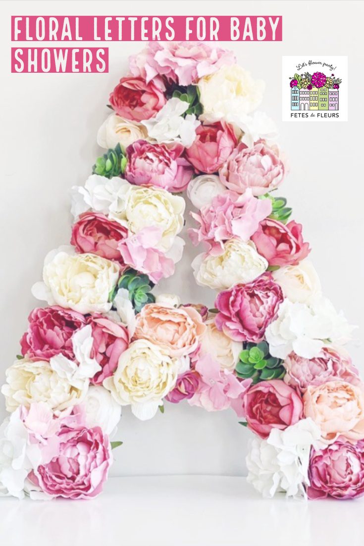 floral letters for baby showers