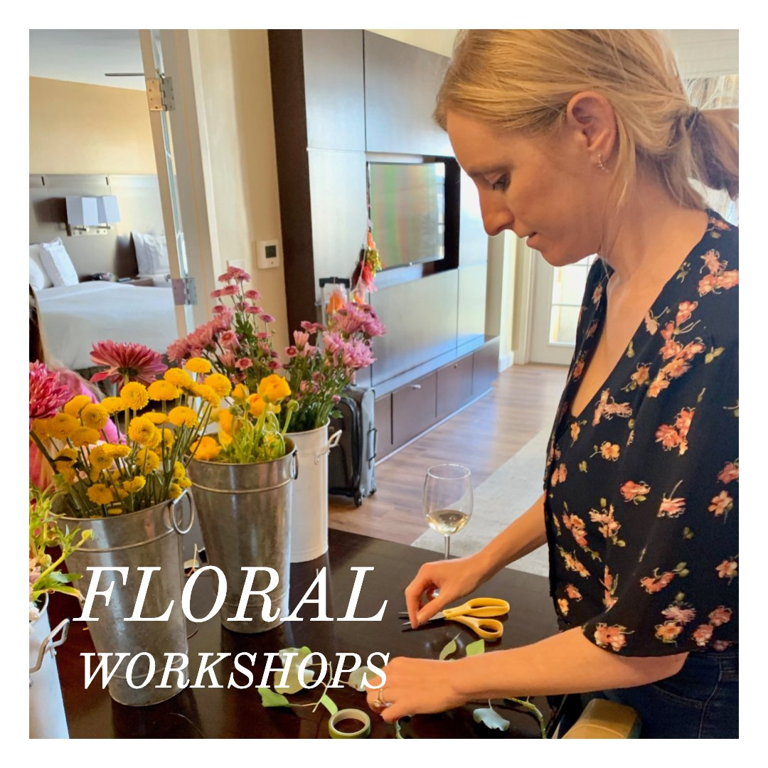 floral workshops for a chill bachelorette party