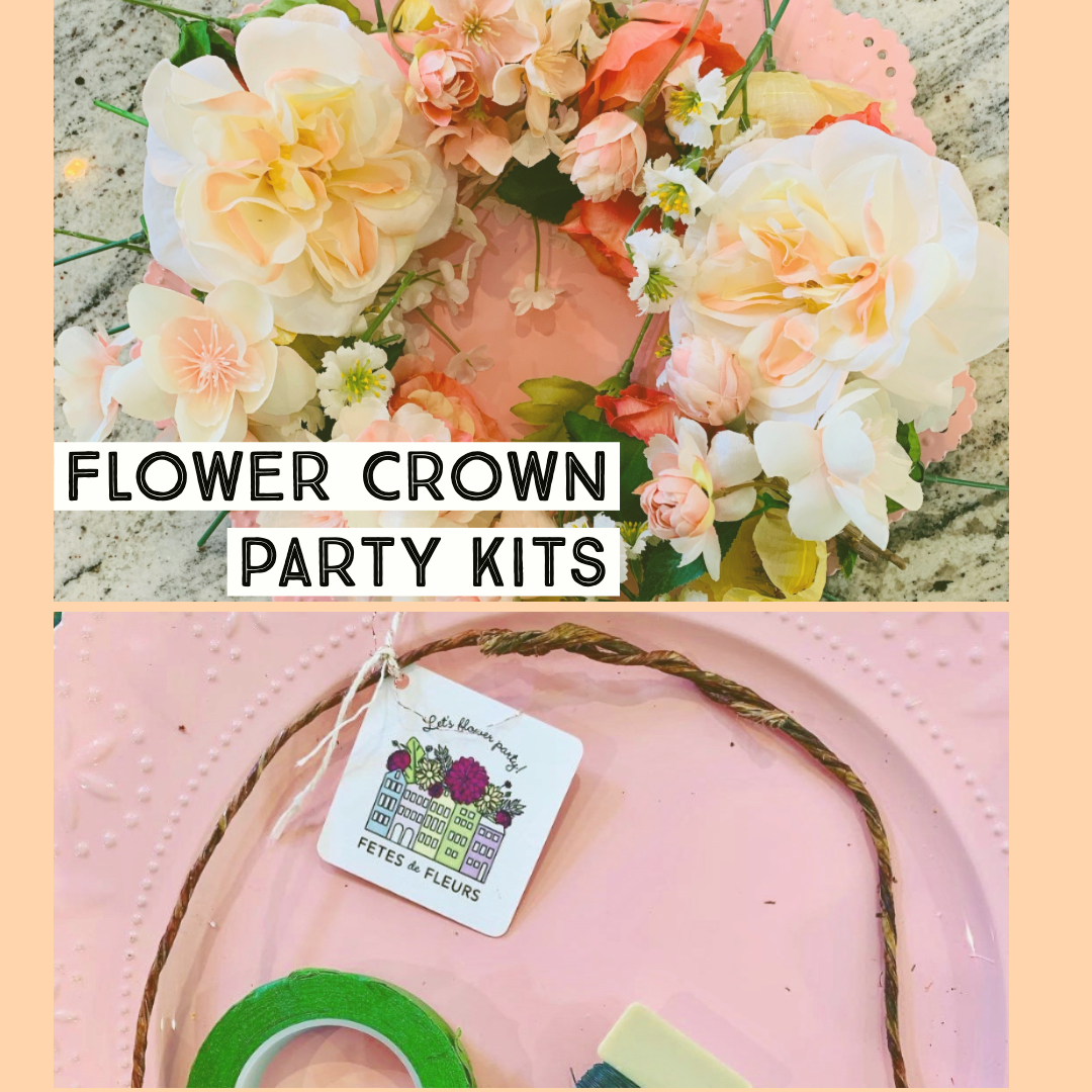 flower crown party kits