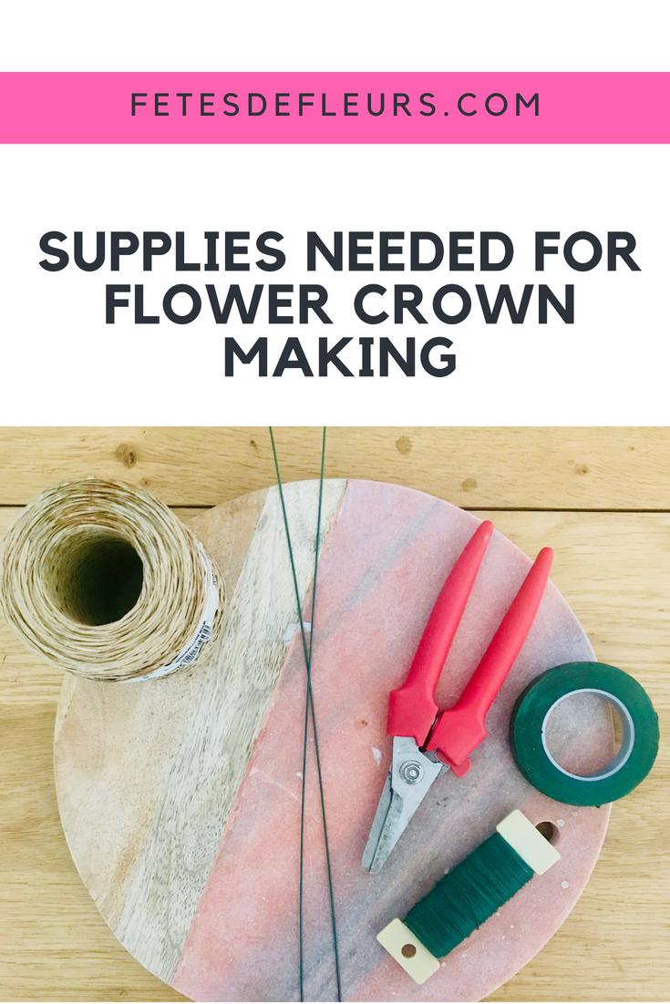 flower crown supplies