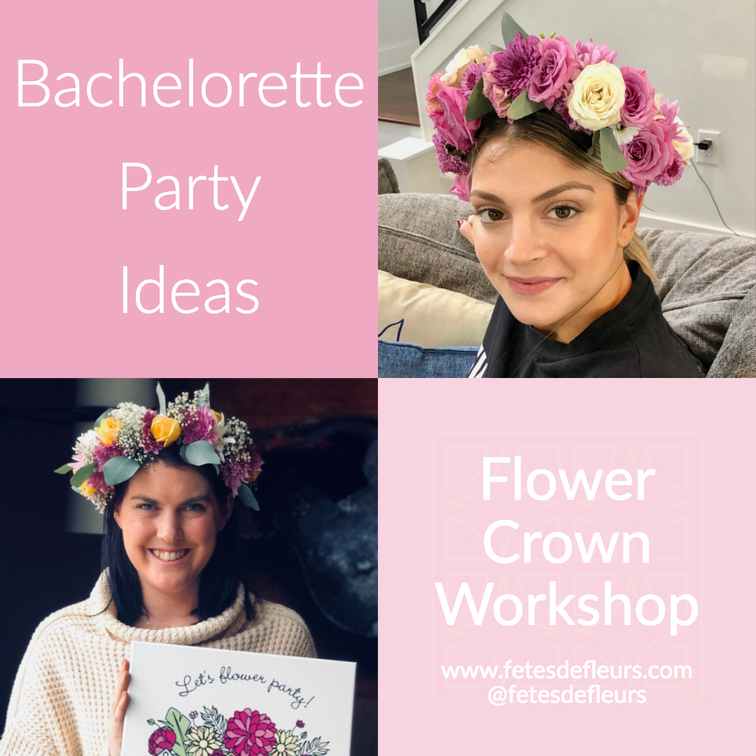 flower crown workshop for a bachelorette party -1