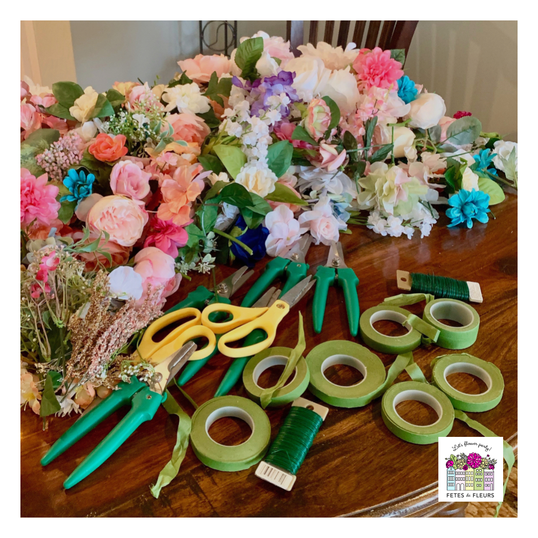 flower crown workshop for a bachelorette party