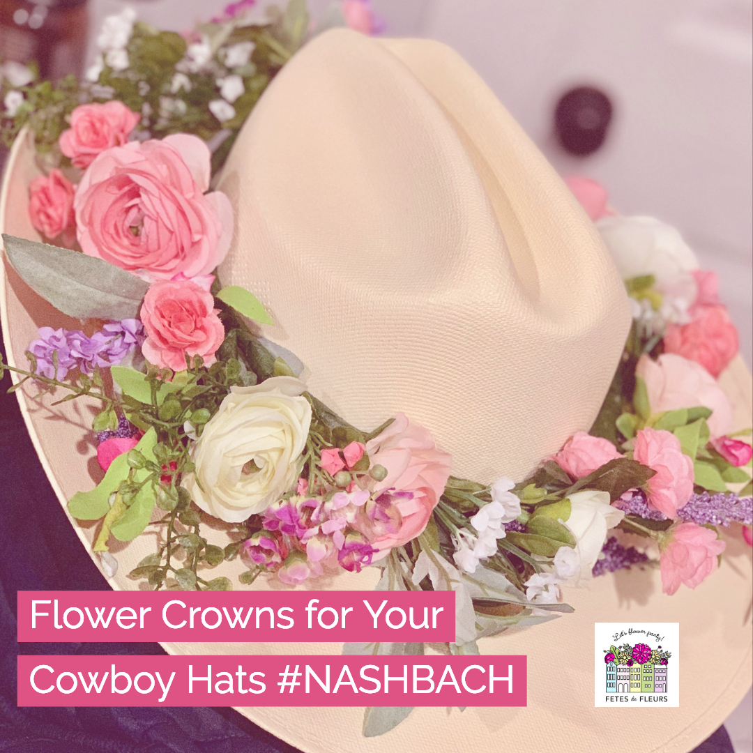flower crowns for your cowboy hat- nash bach