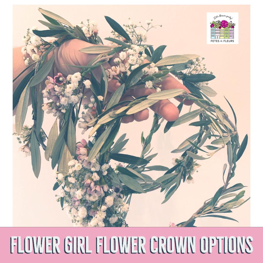 flower girl flower crown options