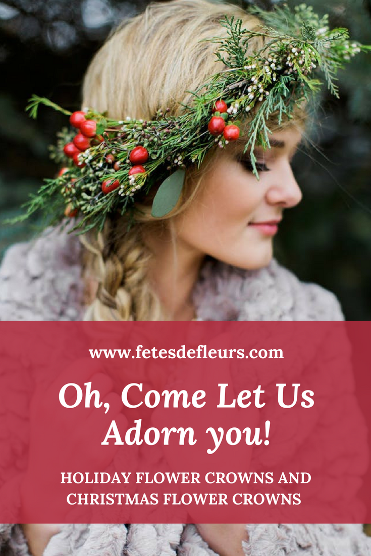holiday flower crowns