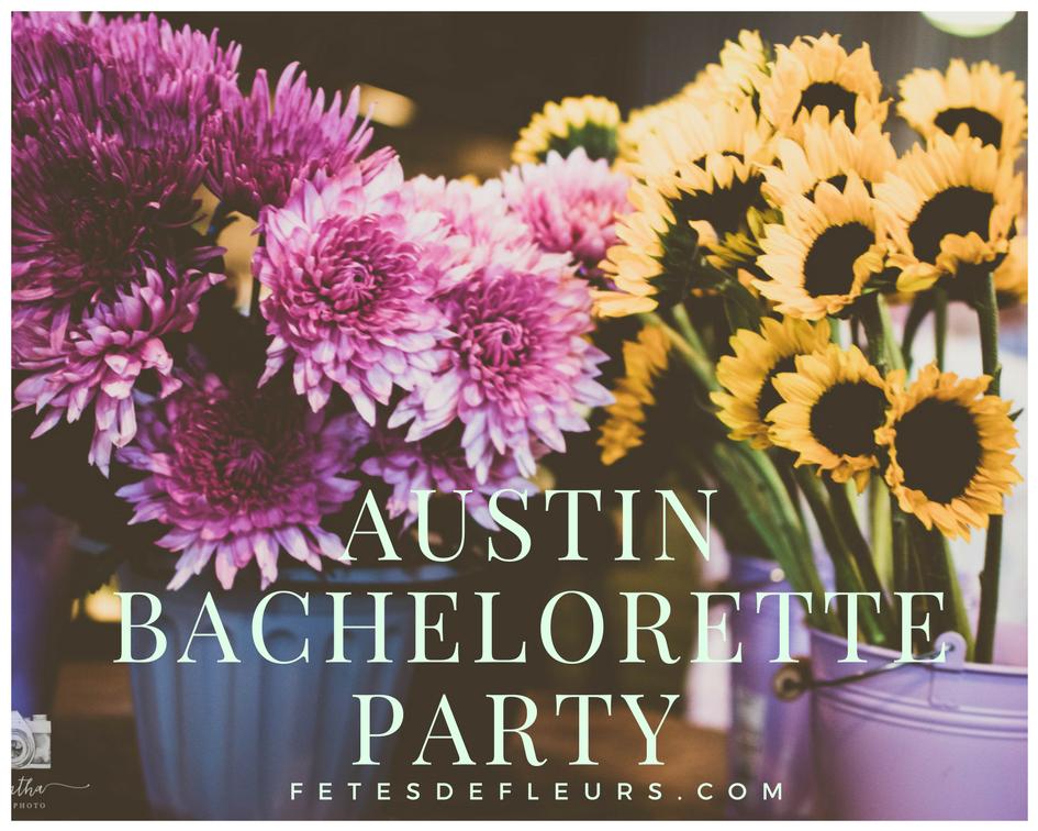 host an austin bachelorette flower crown party