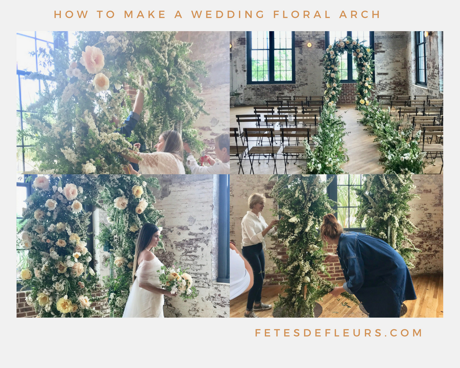 how to make a wedding floral arch