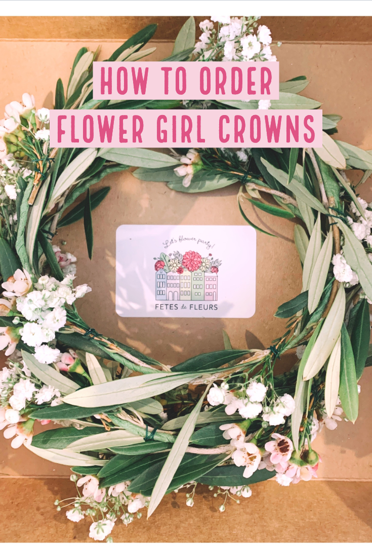 how to order flower girl crowns