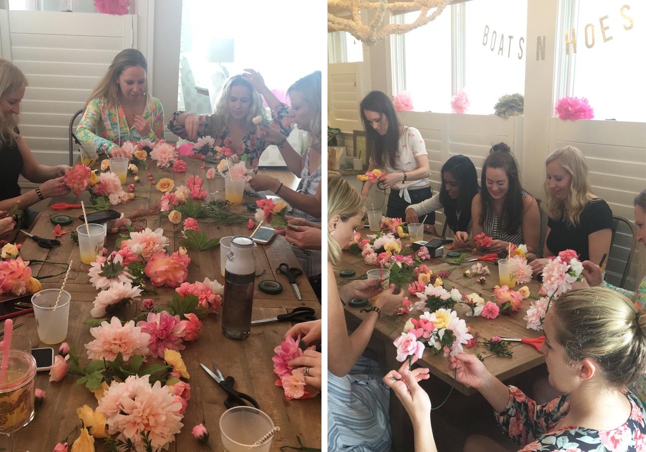 bachelorette party flower crowns