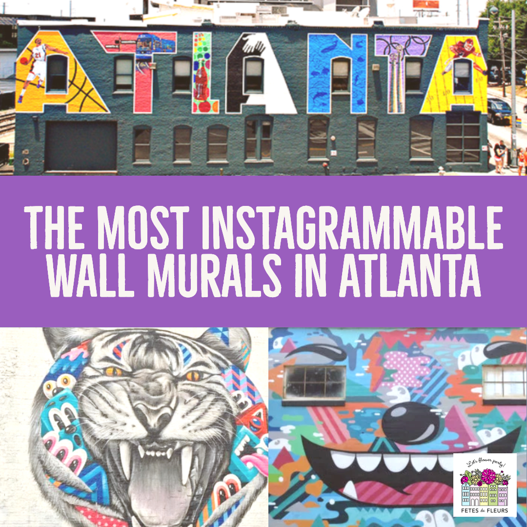 instagrammable wall murals and wall art in atlanta