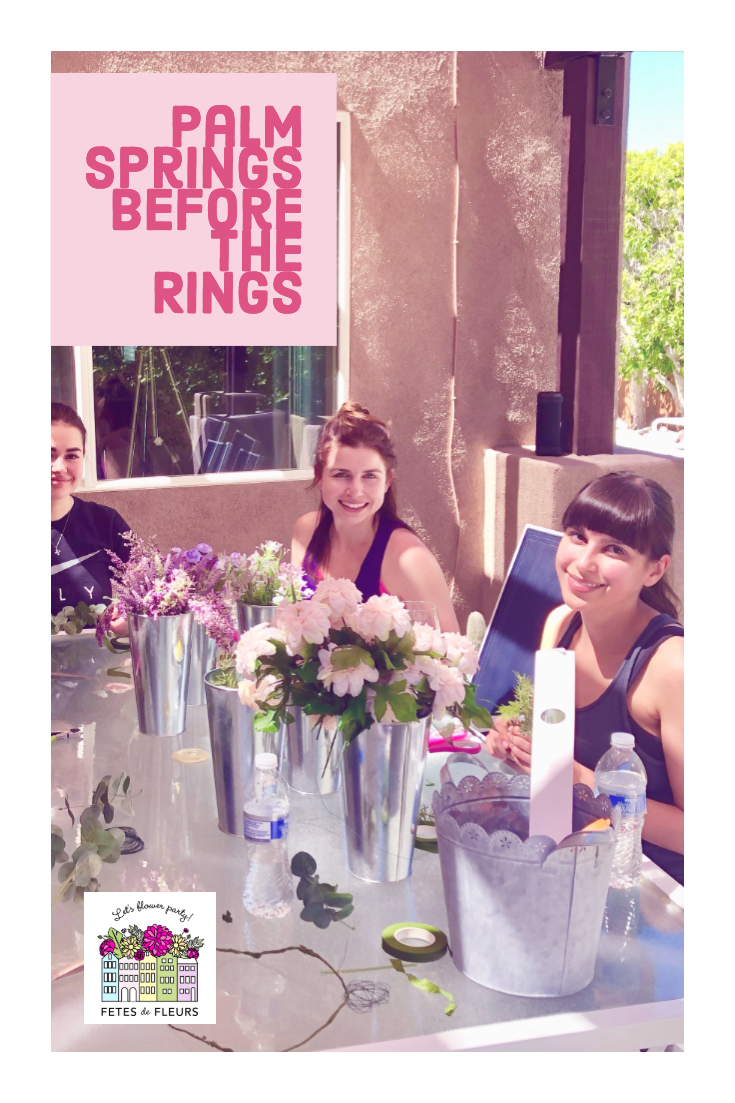 palm springs before the rings - fun bachelorette party activities
